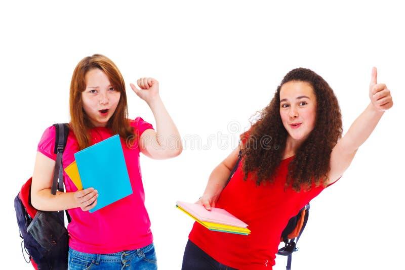 Download Glückliche Studenten stockfoto. Bild von pink, kaukasisch - 26374072