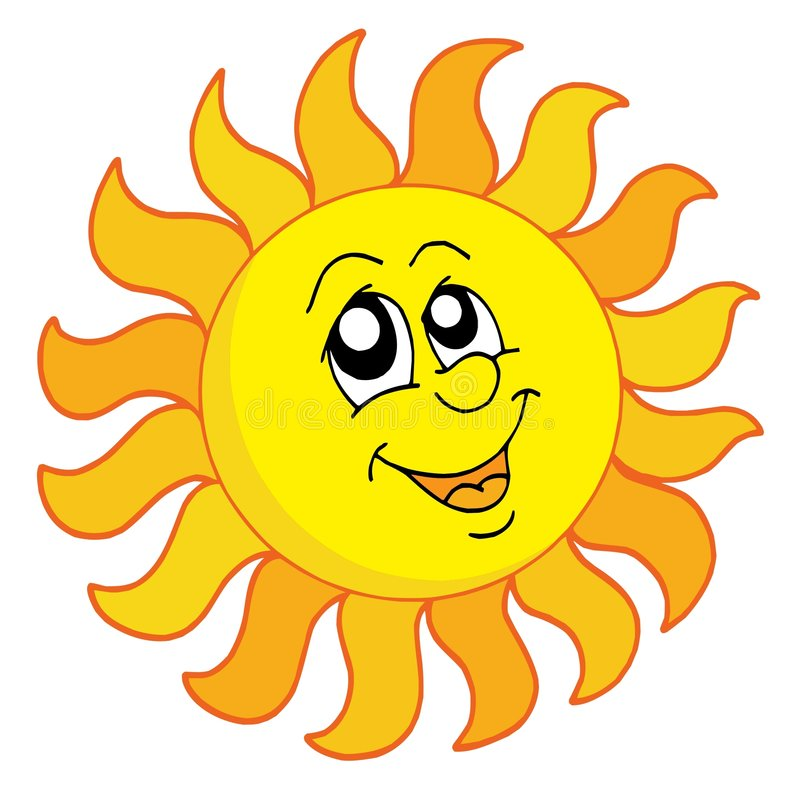 Glückliche Sun-vektorabbildung stock abbildung
