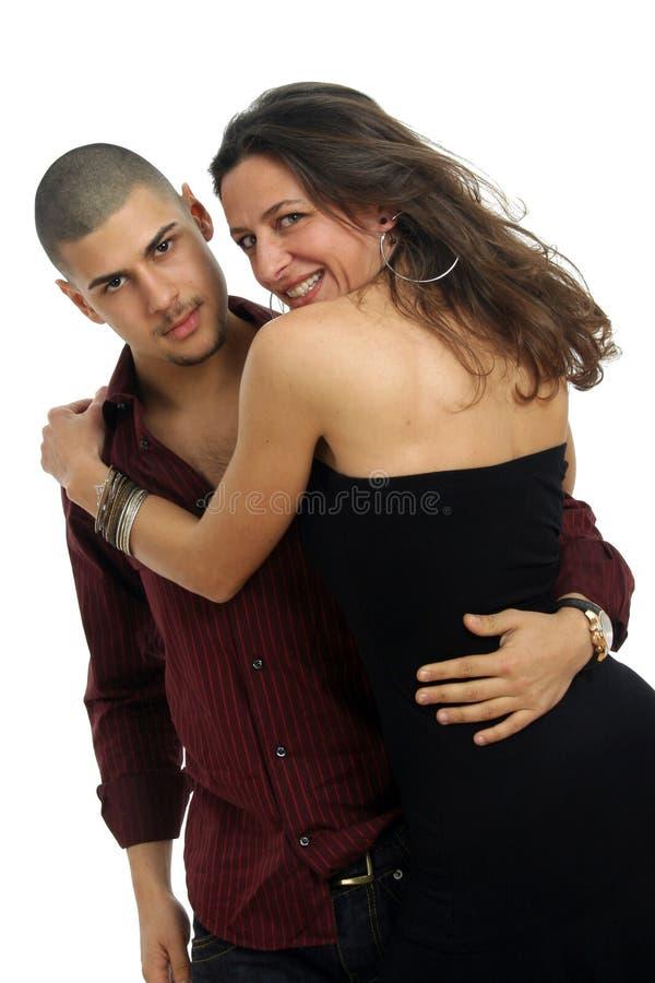 Glückliche Tänzerpaare stockbilder