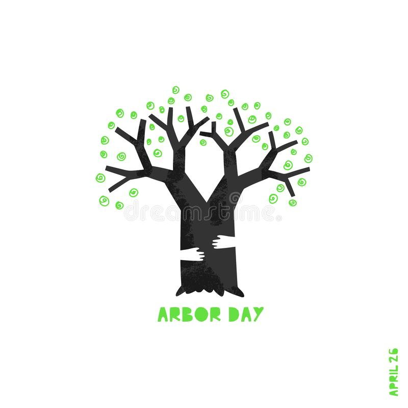 Glückliche Tag des Baums-Vektorillustration stock abbildung