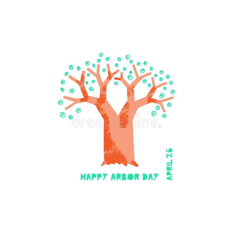 Glückliche Tag des Baums-Vektorillustration vektor abbildung