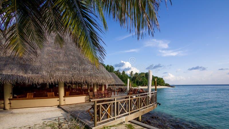 Glückliche Tage in maledivischem lizenzfreie stockfotografie