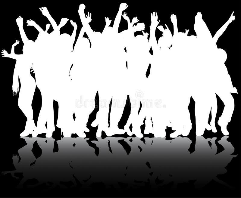 Glückliche Tanzenleute stock abbildung