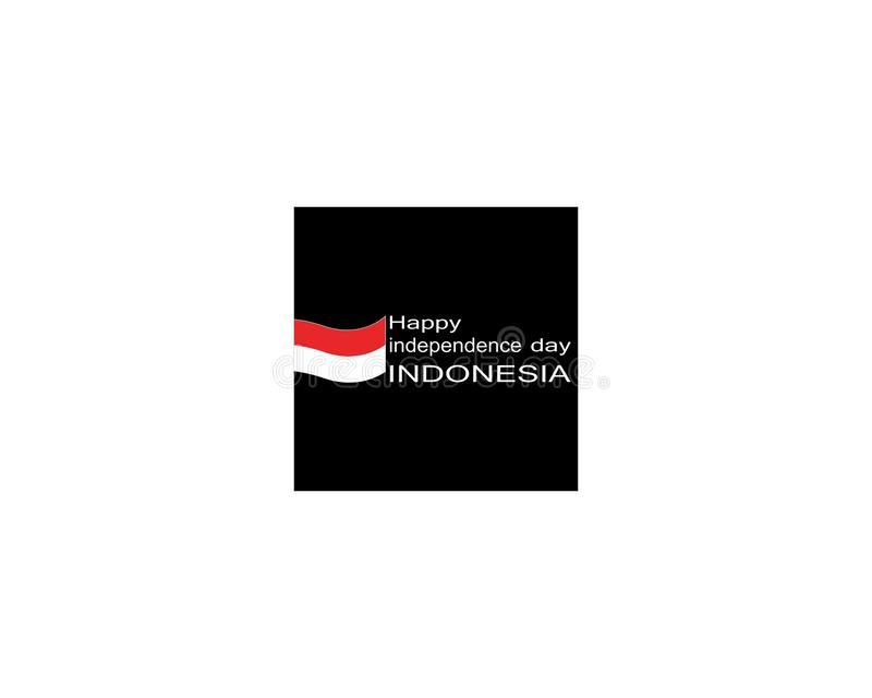 Glückliche Unabhängigkeitstagindonesien-Logovektorschablone lizenzfreie abbildung