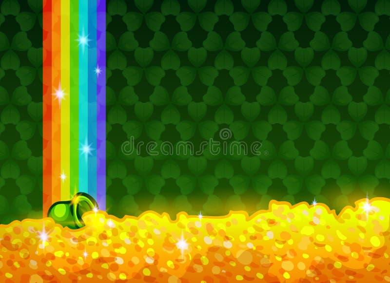 Glückliche und Lucky St Patricks Day-Grußkarte lizenzfreie abbildung