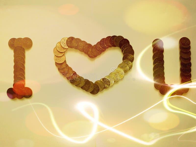 Glückliche Valentinsgrüße zu Ihrem geliebten mit herrlichem Gutschein lizenzfreie stockbilder