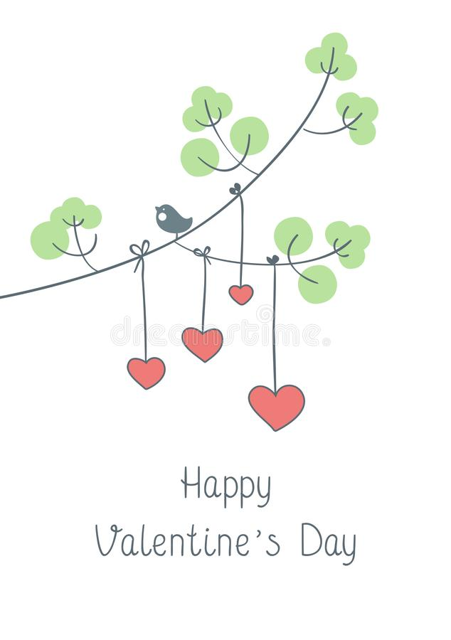 Glückliche Valentinsgruß ` s Tagesgrußkarte mit nettem Mädchen lizenzfreies stockbild