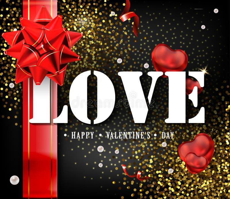 Glückliche Valentinsgruß ` s Tageskarten- oder -fliegerplakatschablonen- oder -Designeinladungen stock abbildung
