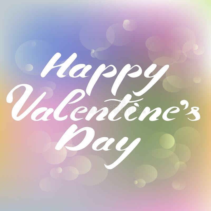 Glückliche Valentinsgruß-Tagesblasen stockfoto