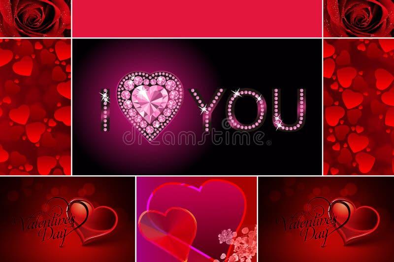 Glückliche Valentinsgrußtageskarte stockfotografie