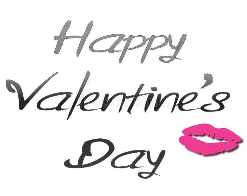 Glückliche Valentinsgrußtageslippe vektor abbildung