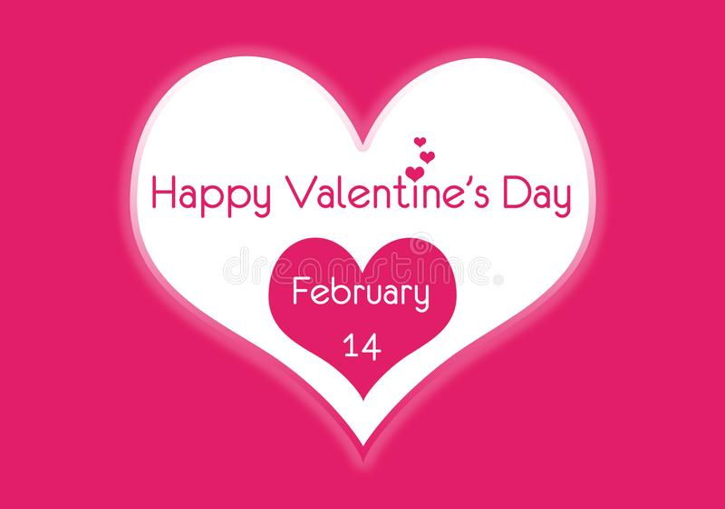 Glückliche Valentinstag-Herzen am 14. Februar lizenzfreies stockfoto