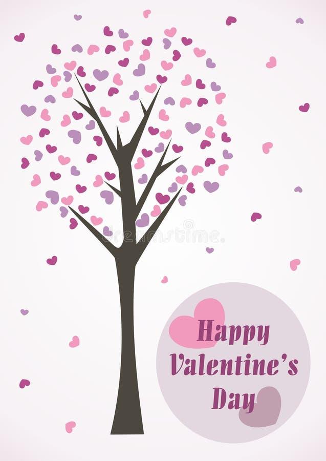 Glückliche Valentinstag-Karte lizenzfreie abbildung