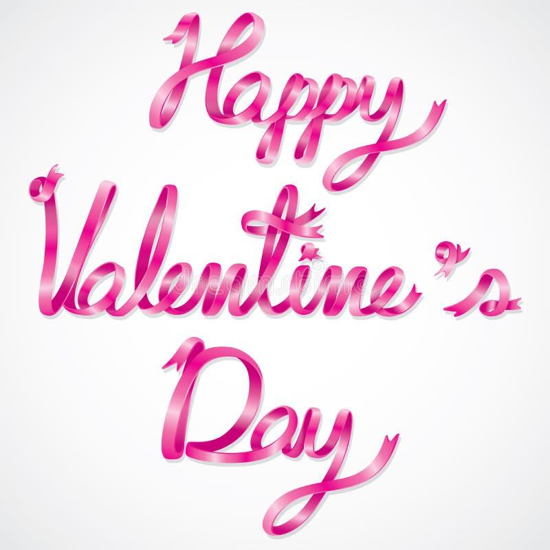 Glückliche Valentinstagbenennung lizenzfreie abbildung