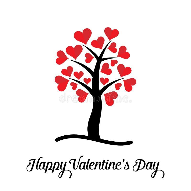 Glückliche Valentinstagkarte lizenzfreie abbildung