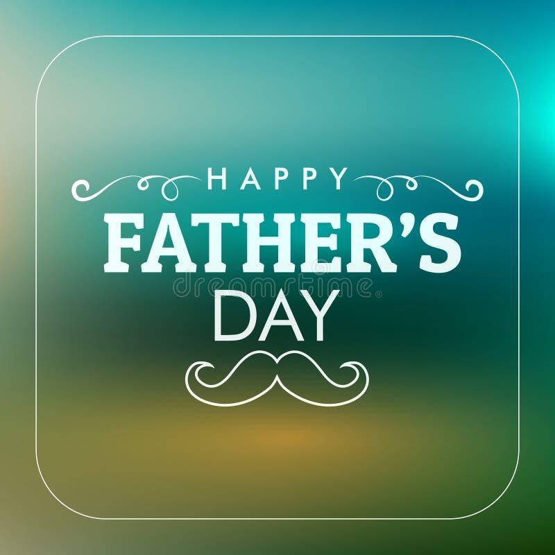 Glückliche Vater ` s Tageskarte stock abbildung