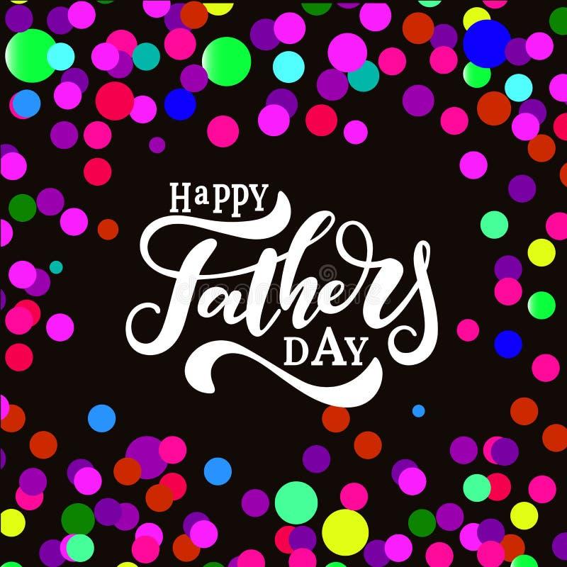 Glückliche Vatertags-Hand gezeichnete Beschriftung stock abbildung