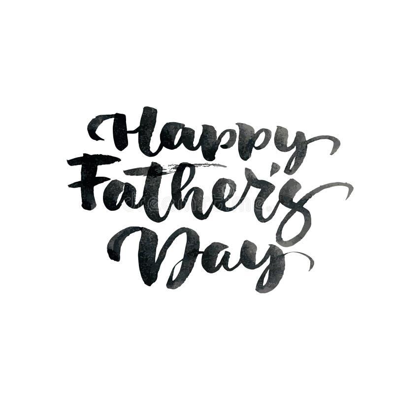 Glückliche Vatertags-Handgezogener kalligraphischer beschriftender Textentwurf Isoladed Zitat der Vektorkalligraphie Illustration vektor abbildung