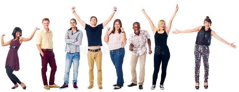 Glückliche verschiedene Leute lizenzfreies stockbild