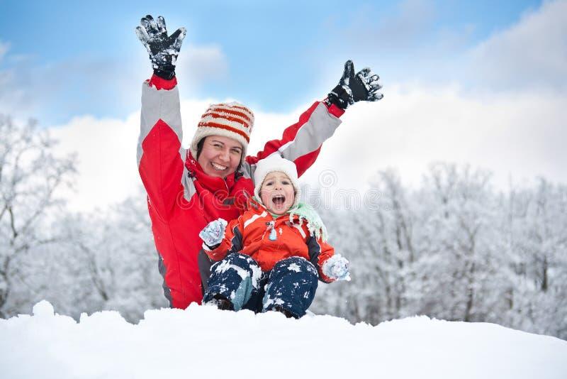 Glückliche Winterferien lizenzfreie stockfotografie