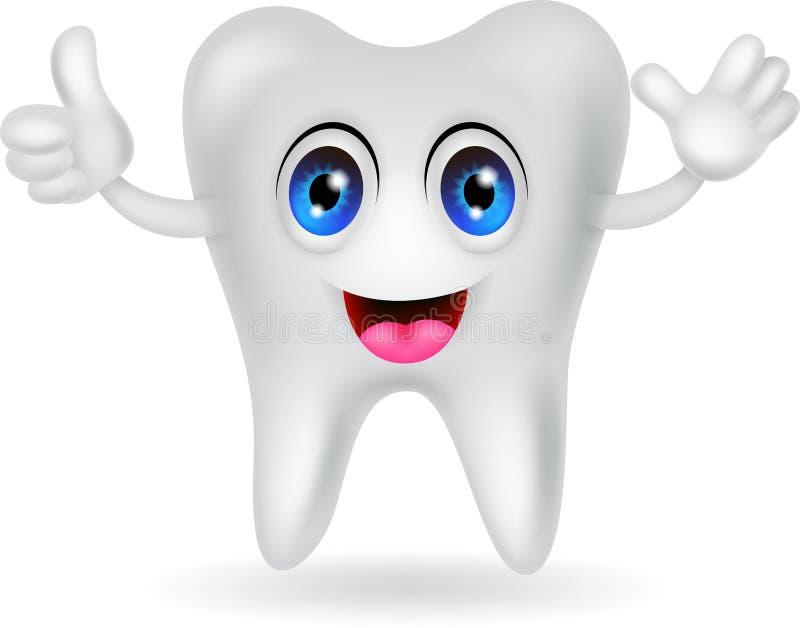 Glückliche Zahnkarikatur Lizenzfreie Stockfotos