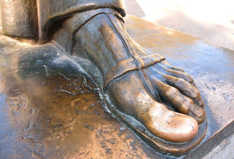 Glückliche Zehe von Statue Grgur Ninski, Spalte lizenzfreies stockfoto