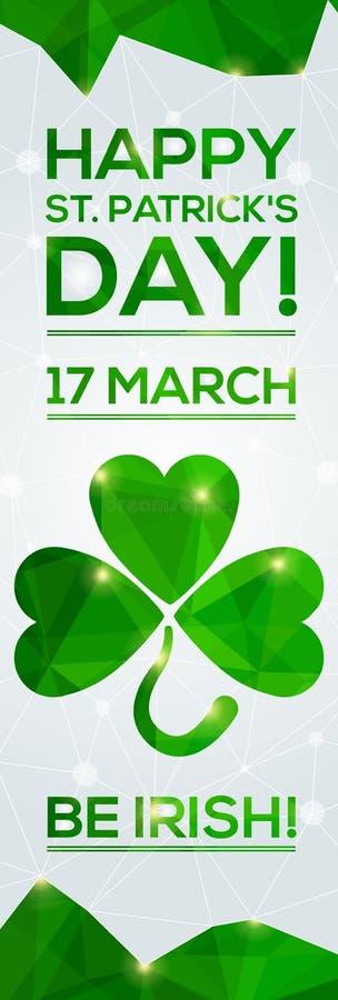 Glücklichen St Patrick Tagesgrußkarte stock abbildung