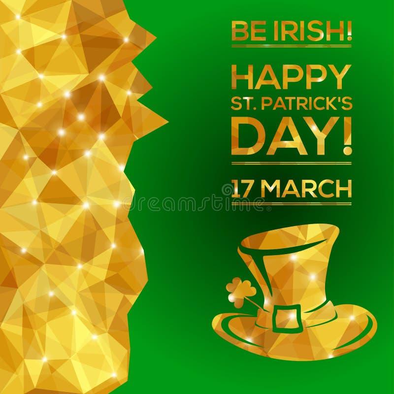 Glücklichen St Patrick Tagesgrußkarte lizenzfreie abbildung