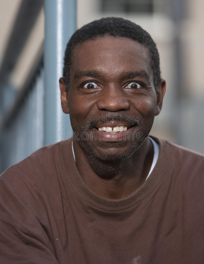 Glücklicher Afroamerikaner-Mann lizenzfreie stockfotos