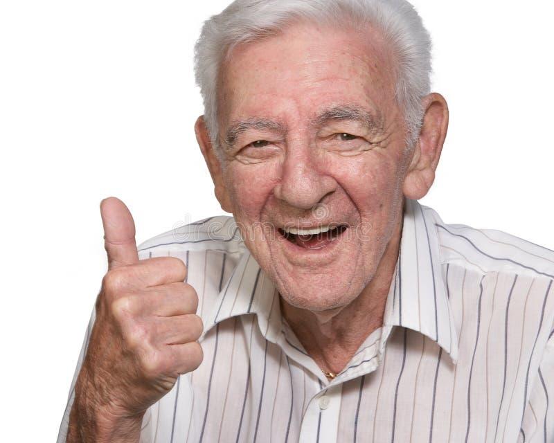 Glücklicher alter Mann stockfotografie