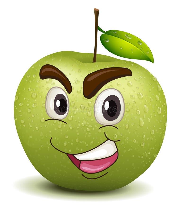 Glücklicher Apfelsmiley vektor abbildung
