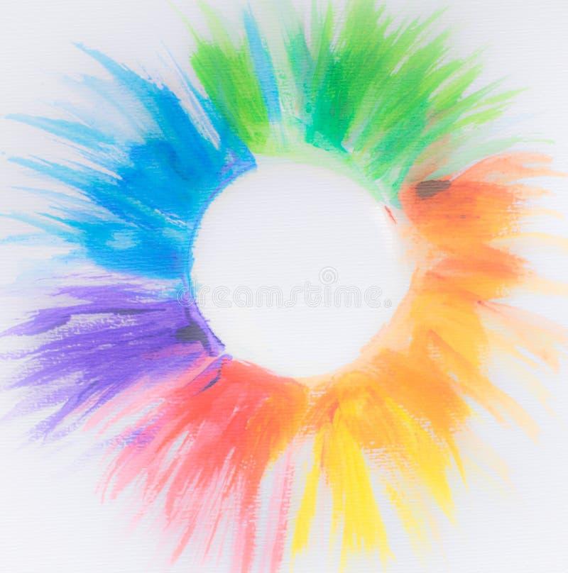 Glücklicher Aquahintergrund des modernen kreativen wunderbaren Festivals des Wirbels futuristischen des klaren multi farbigen gla lizenzfreie abbildung