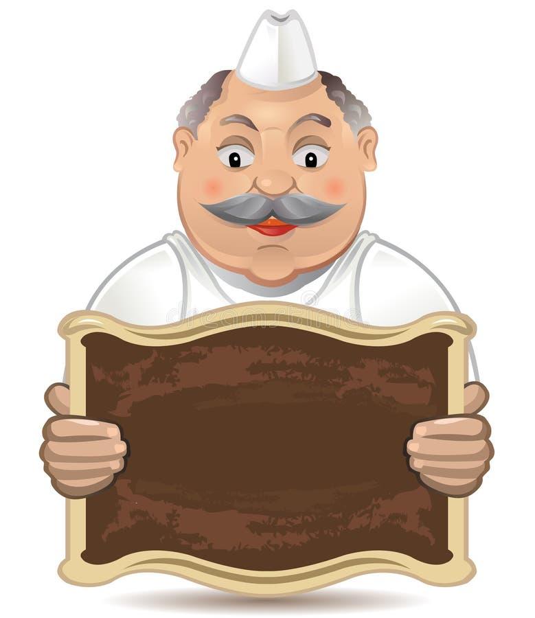 Glücklicher Bäcker lizenzfreie abbildung