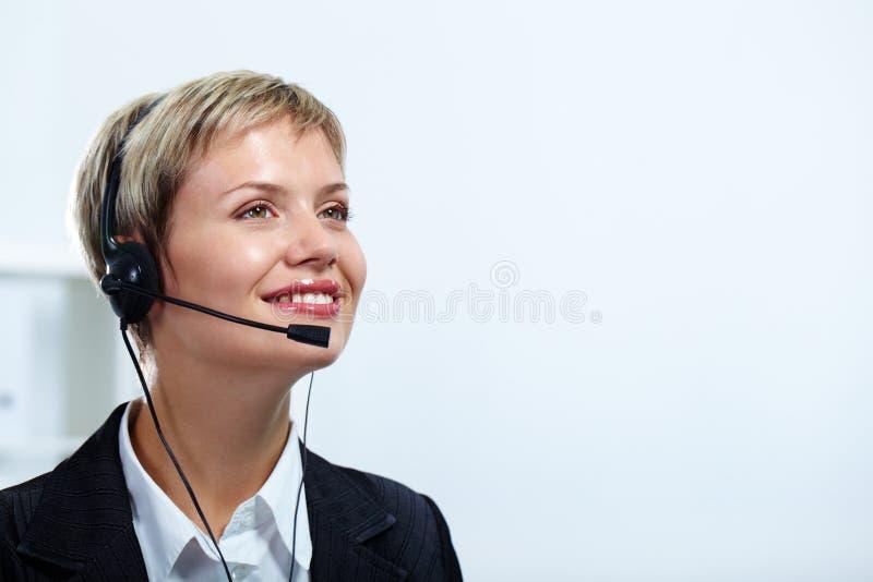 Glücklicher Berater lizenzfreie stockbilder