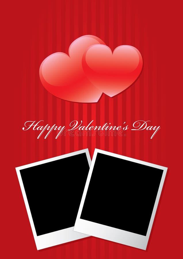Glücklicher Bilderrahmen des Valentinstags zwei stockbilder