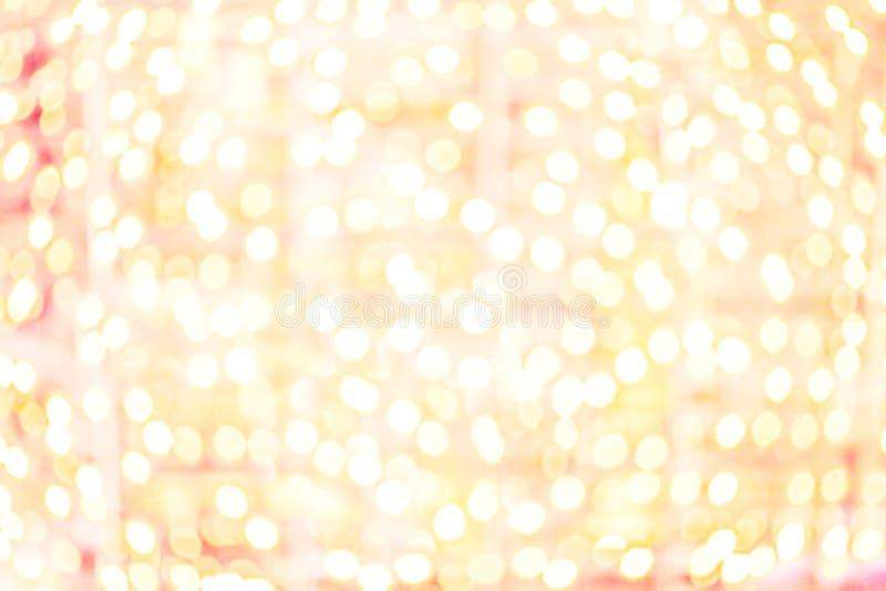 Glücklicher Bokeh-Hintergrund mit defocused undeutlichen Lichtern Partei, Diskette lizenzfreie stockfotos