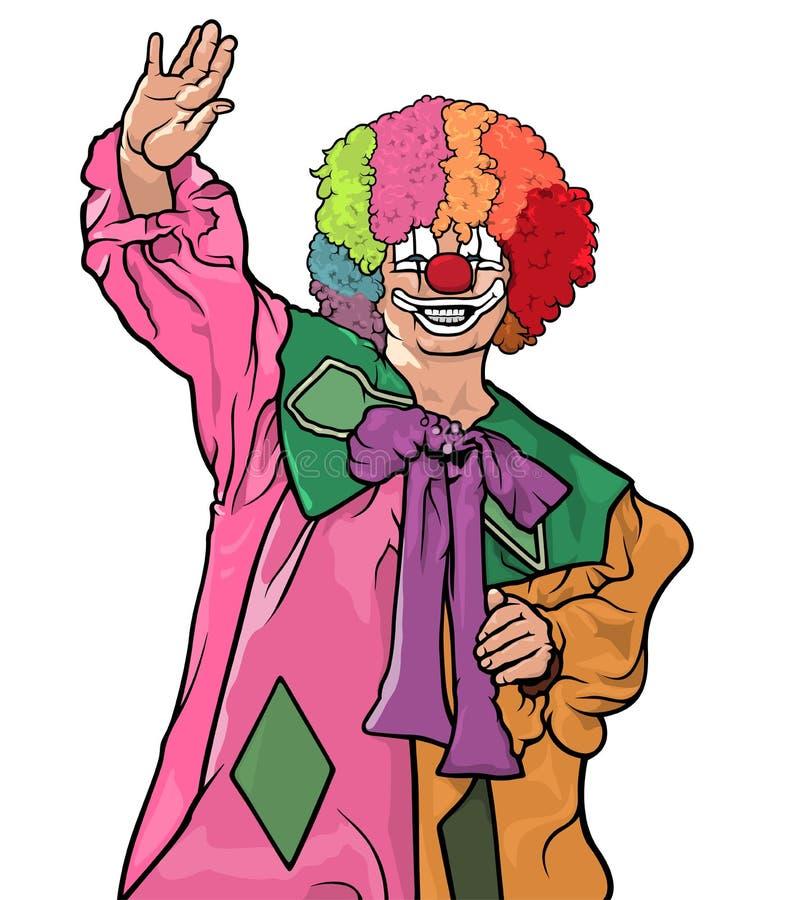 Glücklicher bunter Clown stock abbildung