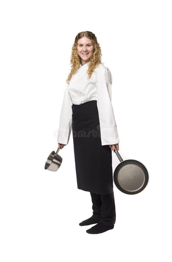 Download Glücklicher Chef stockfoto. Bild von kochen, schutzblech - 9098318