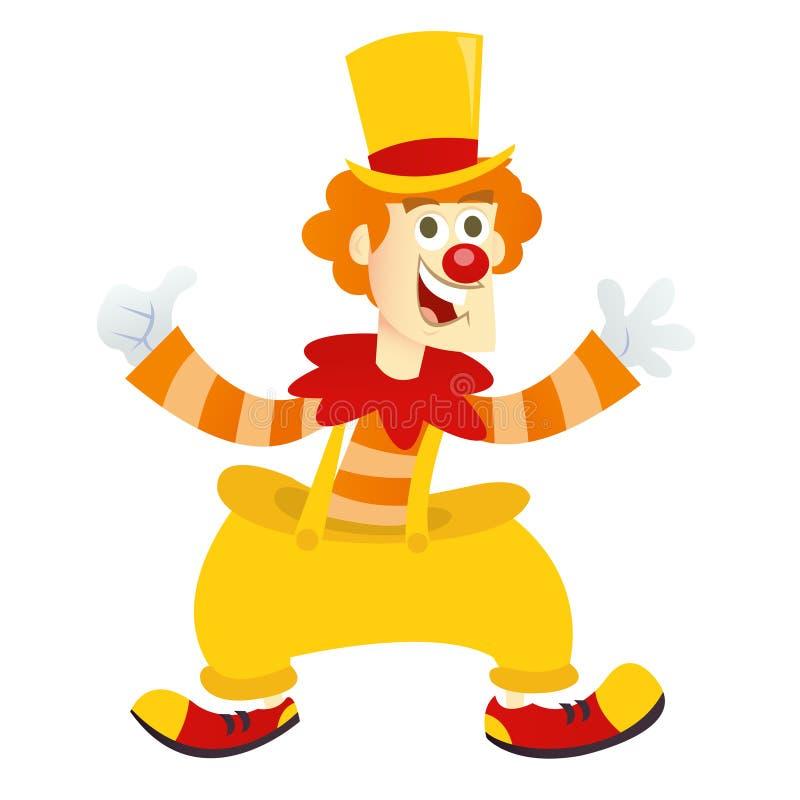 Glücklicher Clown der Karikatur lizenzfreie abbildung