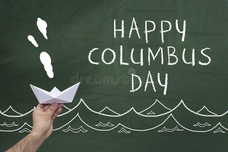 Glücklicher Columbus-Tag lizenzfreie stockfotos