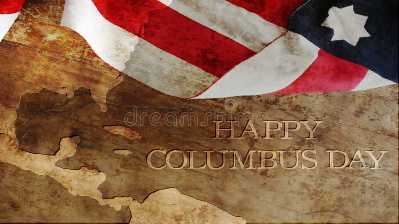 Glücklicher Columbus-Tag lizenzfreie stockfotografie