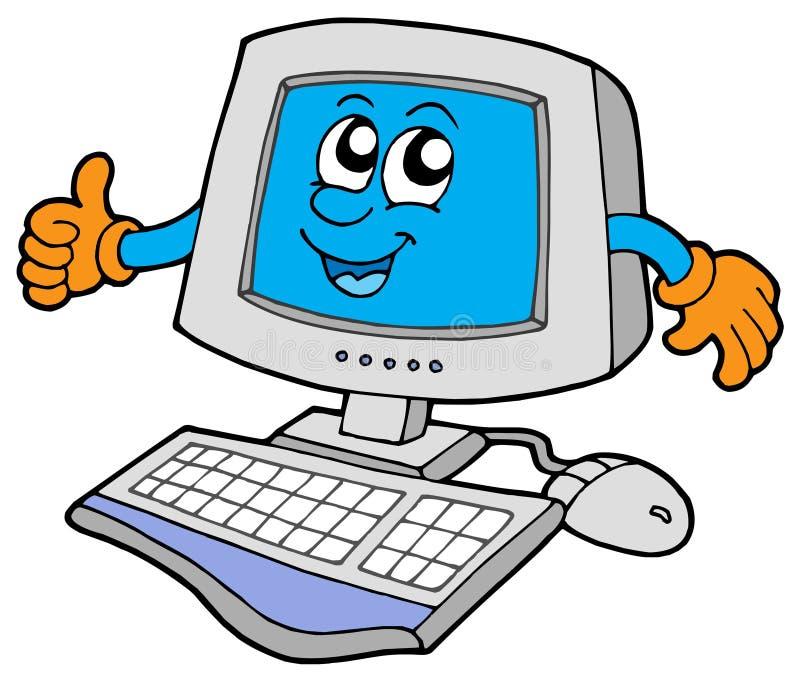 Glücklicher Computer vektor abbildung