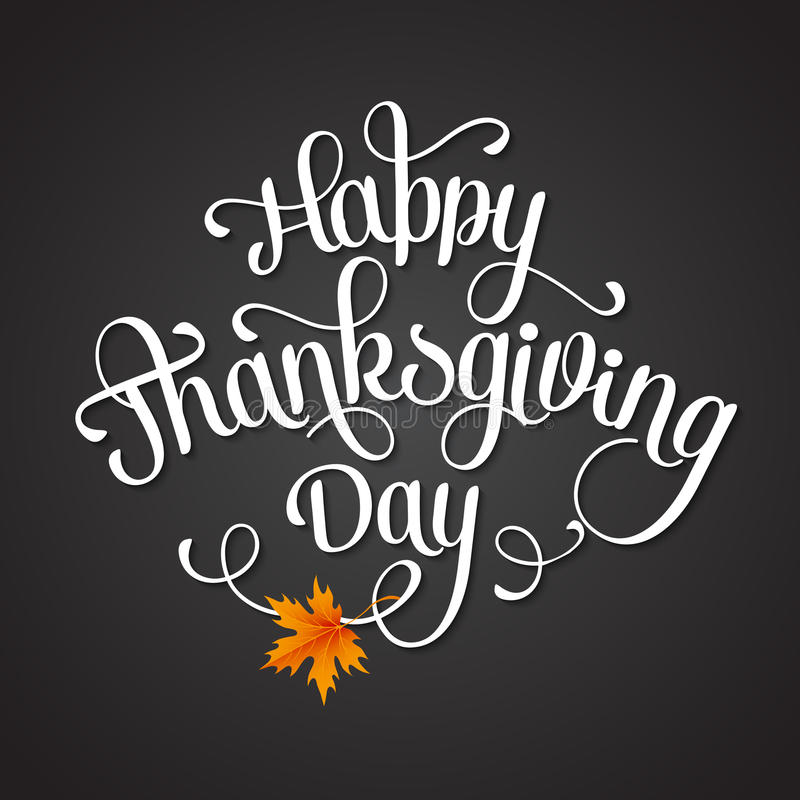 Glücklicher Danksagungs-Tag vektor abbildung