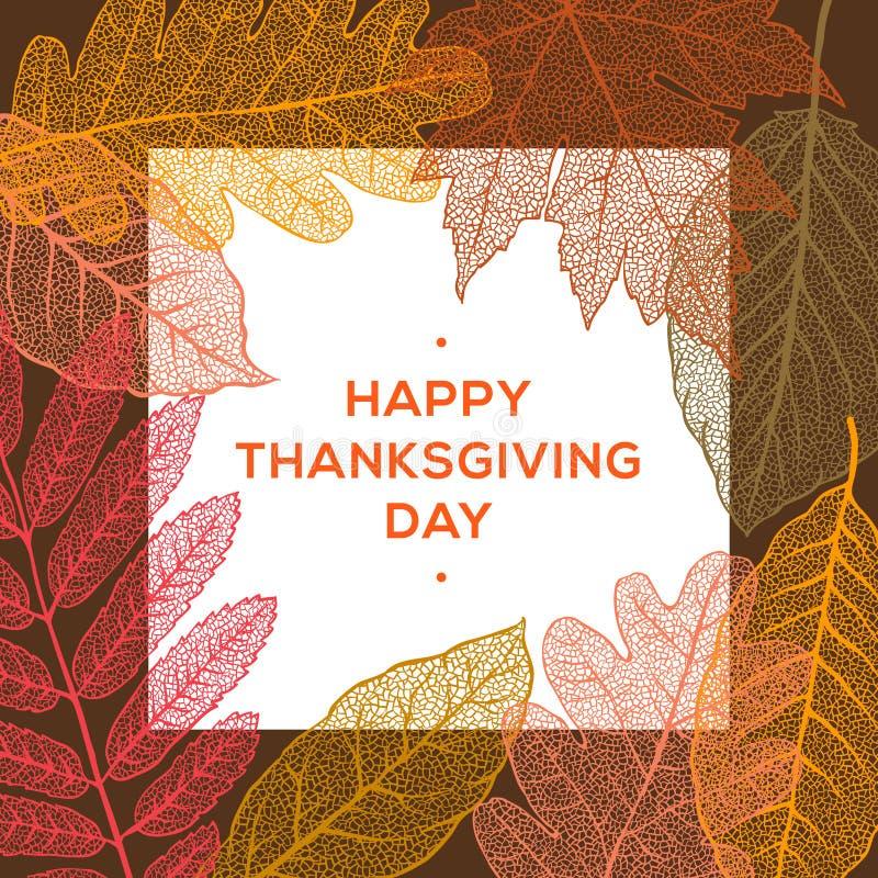 Glücklicher Danksagungstag, Herbstferienhintergrund lizenzfreie abbildung