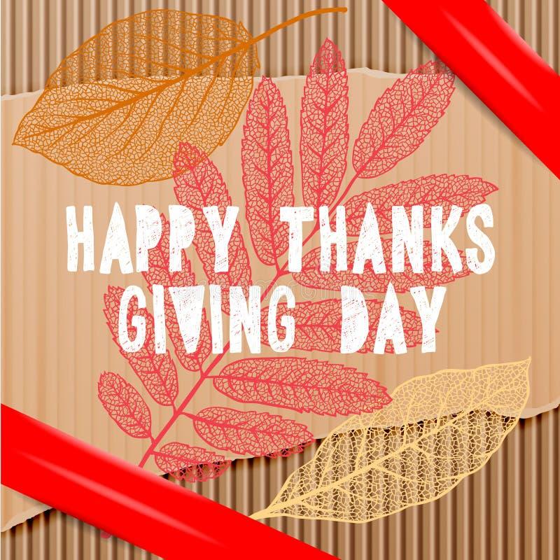 Glücklicher Danksagungstag, Herbstferienhintergrund vektor abbildung