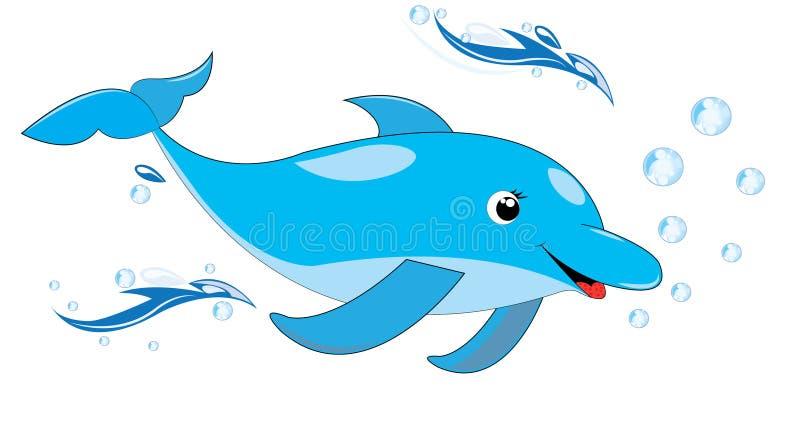 Glücklicher Delphin lizenzfreie abbildung