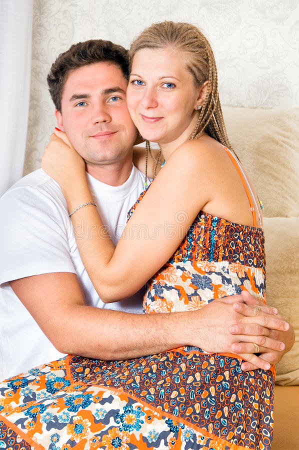 Glücklicher Ehemann und Frau stockfotos
