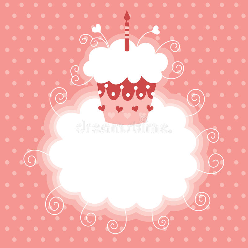 Glücklicher erster Geburtstag lizenzfreie abbildung