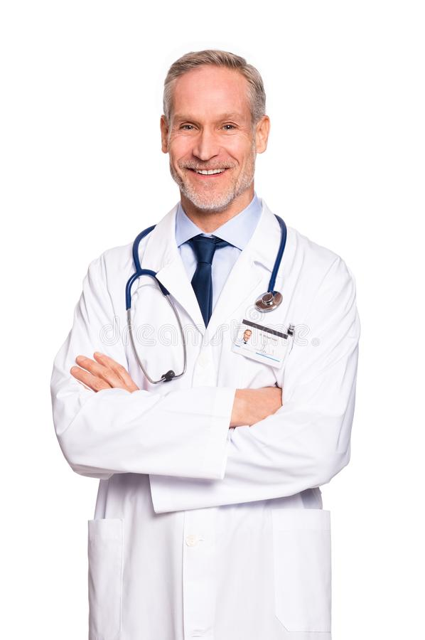 Glücklicher fälliger Doktor lizenzfreies stockbild