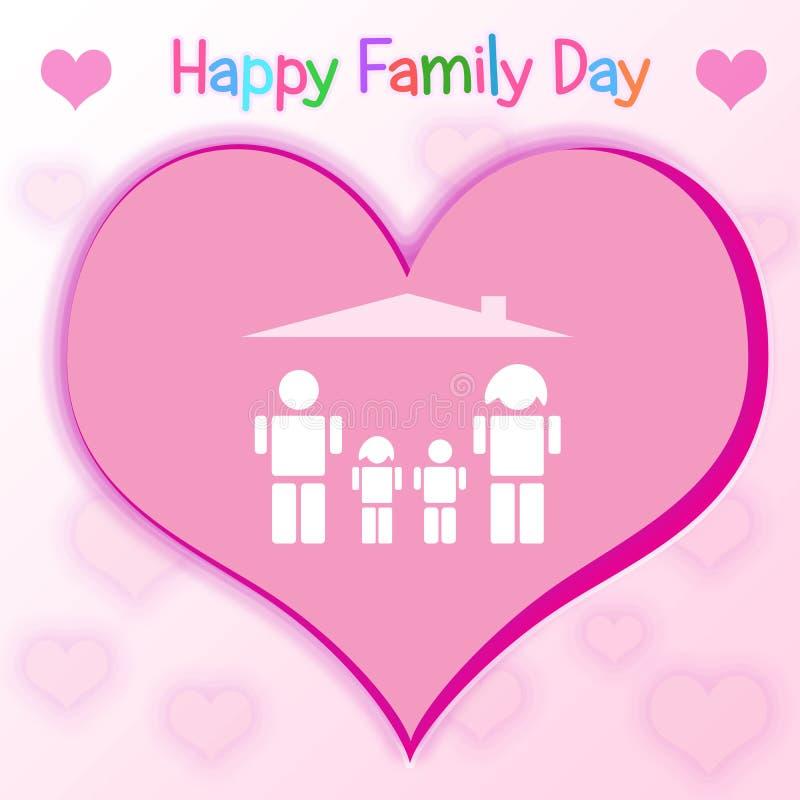 Glücklicher Familien-Tages-Kanada-Feiertag stockbilder